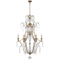 E. F. Chapman Penhurst 6 Light 26 inch Gilded Iron with Wax Chandelier Ceiling Light