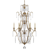 Visual Comfort E.F. Chapman Penhurst 6 Light Chandelier in Gilded Iron with Wax CHC1556GI-CG