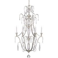 Visual Comfort E.F. Chapman Penhurst 6 Light Chandelier in Polished Nickel CHC1556PN-CG