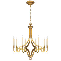Visual Comfort E.F. Chapman Mykonos 8 Light Chandelier in Antique-Burnished Brass CHC1561AB photo thumbnail