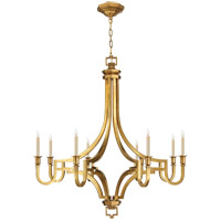 Visual Comfort E.F. Chapman Mykonos 8 Light Chandelier in Antique-Burnished Brass CHC1562AB