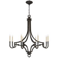 Visual Comfort E.F. Chapman Mykonos 8 Light Chandelier in Aged Iron with Wax CHC1562AI