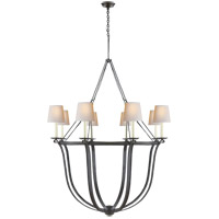 E. F. Chapman Lancaster 8 Light 42 inch Aged Iron Chandelier Ceiling Light