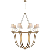 E. F. Chapman Lancaster 8 Light 42 inch Gilded Iron Chandelier Ceiling Light