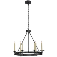 Visual Comfort CHC1600BZ E. F. Chapman Launceton 6 Light 27 inch Bronze Chandelier Ceiling Light, Small Ring