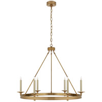 E. F. Chapman Launceton 6 Light 36 inch Antique-Burnished Brass Chandelier Ceiling Light