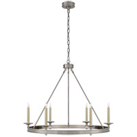 Visual Comfort CHC1601AN E. F. Chapman Launceton 6 Light 36 inch Antique Nickel Chandelier Ceiling Light