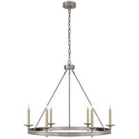 Visual Comfort CHC1601AN E. F. Chapman Launceton 6 Light 36 inch Antique Nickel Chandelier Ceiling Light