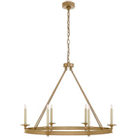 Visual Comfort CHC1603AB E. F. Chapman Launceton 6 Light 39 inch Antique-Burnished Brass Chandelier Ceiling Light, Large Oval