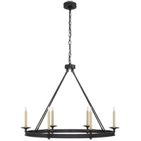 Visual Comfort CHC1603BZ E. F. Chapman Launceton 6 Light 39 inch Bronze Chandelier Ceiling Light, Large Oval