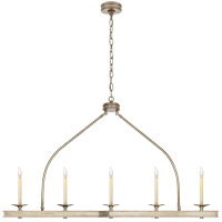 Visual Comfort E. F. Chapman Launceton 5 Light 52 inch Antique Nickel Linear Pendant Ceiling Light, Large CHC1605AN - Open Box
