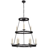Visual Comfort CHC1606BZ E. F. Chapman Launceton 9 Light 36 inch Bronze Chandelier Ceiling Light, Medium Two Tier photo thumbnail