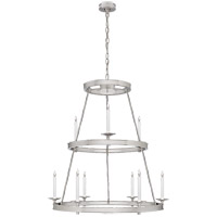 E. F. Chapman Launceton 9 Light 36 inch Polished Nickel Chandelier Ceiling Light, Medium Two Tier