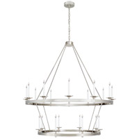 Visual Comfort CHC1608PN Chapman & Myers Launceton 20 Light 53 inch Polished Nickel Two Tiered Chandelier Ceiling Light Grande
