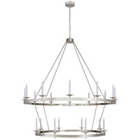 Visual Comfort CHC1609PN Chapman & Myers Launceton 20 Light 64 inch Polished Nickel Two Tiered Chandelier Ceiling Light, XXL