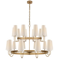 Visual Comfort CHC1620AB-L E. F. Chapman Venini 20 Light 46 inch Antique-Burnished Brass Chandelier Ceiling Light Large