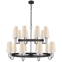 Visual Comfort CHC1620BZ-L E. F. Chapman Venini 20 Light 46 inch Bronze Chandelier Ceiling Light, Large