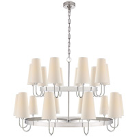 E. F. Chapman Venini 20 Light 46 inch Polished Nickel Chandelier Ceiling Light, Large