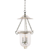 Visual Comfort E.F. Chapman Classic 3 Light Foyer Pendant in Polished Nickel CHC2101PN