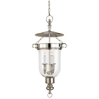 Visual Comfort E.F. Chapman Georgian 3 Light Foyer Pendant in Polished Nickel CHC2103PN