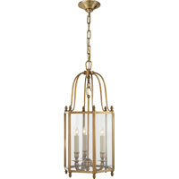 Visual Comfort E.F. Chapman English 3 Light Ceiling Lantern in Antique-Burnished Brass CHC2105AB