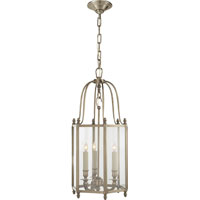 Visual Comfort E.F. Chapman English 3 Light Ceiling Lantern in Antique Nickel CHC2105AN