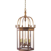 Visual Comfort E.F. Chapman English 6 Light Ceiling Lantern in Antique-Burnished Brass CHC2106AB