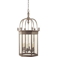 Visual Comfort E.F. Chapman English 6 Light Ceiling Lantern in Antique Nickel CHC2106AN