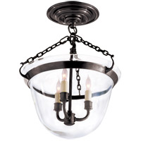 Visual Comfort CHC2109BZ E. F. Chapman Country 3 Light 13 inch Bronze Semi-Flush Ceiling Light