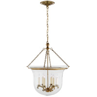Visual Comfort E.F. Chapman Country 6 Light Ceiling Lantern in Antique-Burnished Brass CHC2110AB