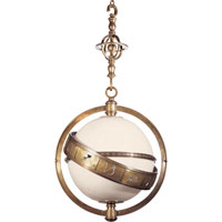 Visual Comfort CHC2112AB-WG E. F. Chapman Zodiac 2 Light 24 inch Antique-Burnished Brass Pendant Ceiling Light in Antique Burnished Brass