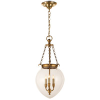 E.F. Chapman Amphora 3 Light 12 inch Antique-Burnished Brass Pendant Ceiling Light in Antique Burnished Brass