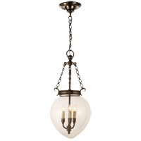 E.F. Chapman Amphora 3 Light 12 inch Bronze Pendant Ceiling Light