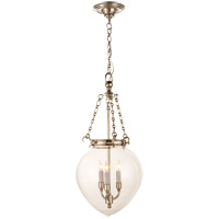 E.F. Chapman Amphora 3 Light 12 inch Polished Nickel Pendant Ceiling Light