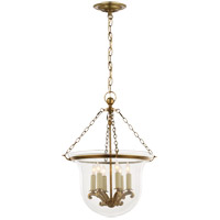 Visual Comfort E.F. Chapman Country 6 Light Ceiling Lantern in Antique-Burnished Brass CHC2117AB