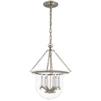 Visual Comfort E.F. Chapman Country 6 Light Foyer Pendant in Polished Nickel CHC2117PN