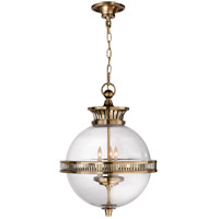 E.F. Chapman Alderly 3 Light 16 inch Antique Burnished Brass Pendant Ceiling Light