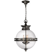 Visual Comfort CHC2128BZ-CG E. F. Chapman Alderly 3 Light 16 inch Bronze Pendant Ceiling Light