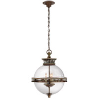 Visual Comfort CHC2128WVG-CG E. F. Chapman Alderly 3 Light 16 inch Weathered Verdigris Foyer Pendant Ceiling Light