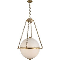 Visual Comfort E.F. Chapman  Globe 2 Light Pendant in Antique-Burnished Brass CHC2135AB-WG