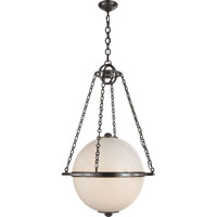 Visual Comfort E.F. Chapman  Globe 2 Light Pendant in Bronze with Wax CHC2135BZ-WG