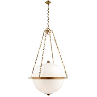 E.F. Chapman Globe 3 Light 32 inch Antique Burnished Brass Pendant Ceiling Light