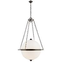 Visual Comfort CHC2136BZ-WG E. F. Chapman Modern 3 Light 32 inch Bronze Pendant Ceiling Light