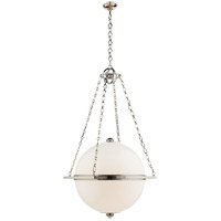 E.F. Chapman Globe 3 Light 32 inch Polished Nickel Pendant Ceiling Light