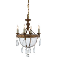 Visual Comfort E.F. Chapman Devon 4 Light Chandelier in Gilded Iron with Wax CHC2138GI-CG