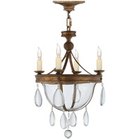 Visual Comfort CHC2138GI-CG E. F. Chapman Devon 4 Light 11 inch Gilded Iron Chandelier Ceiling Light
