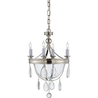 Visual Comfort E.F. Chapman Devon 4 Light Chandelier in Polished Nickel CHC2138PN-CG