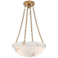 Visual Comfort E.F. Chapman Fluted Band 2 Light Pendant in Alabaster Natural Stone CHC2149ALB