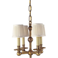 Visual Comfort E.F. Chapman Pimlico 4 Light Chandelier in Antique-Burnished Brass CHC2150AB
