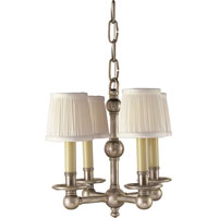 Visual Comfort E.F. Chapman Pimlico 4 Light Chandelier in Antique Nickel CHC2150AN